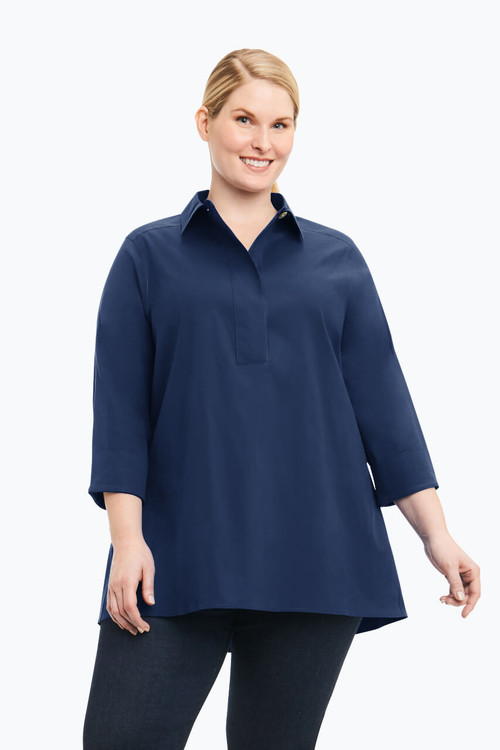 Bre Plus Solid Stretch Non-Iron Tunic