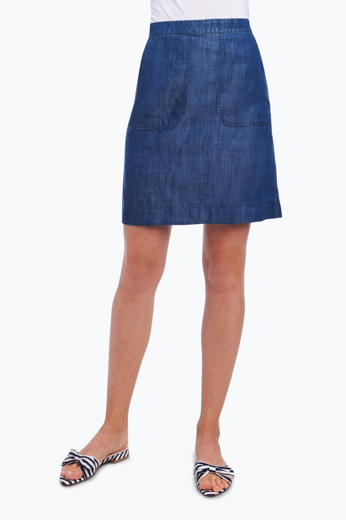 Candice Skirt in Solid Tencel