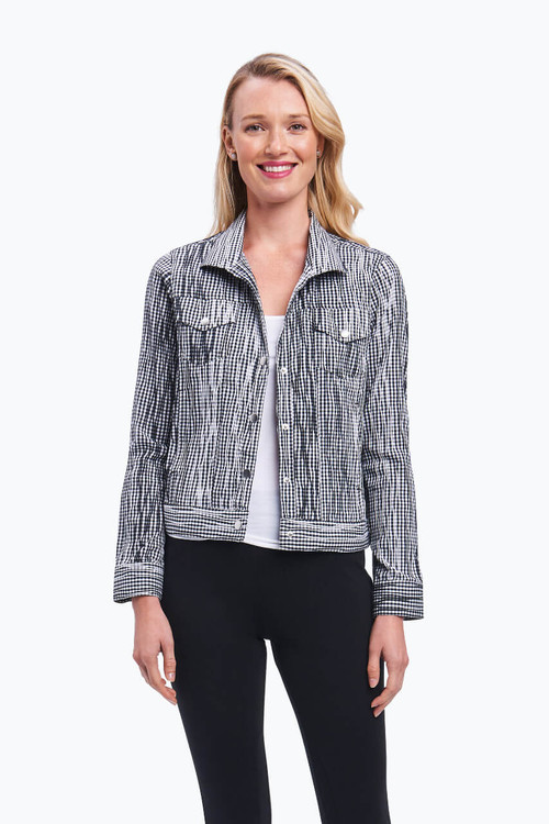 Tina Jacket in Crinkle Gingham