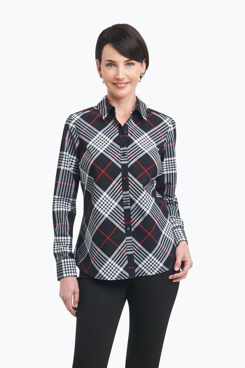Tina Petite Wrinkle Free Shirt in Glasgow Tartan