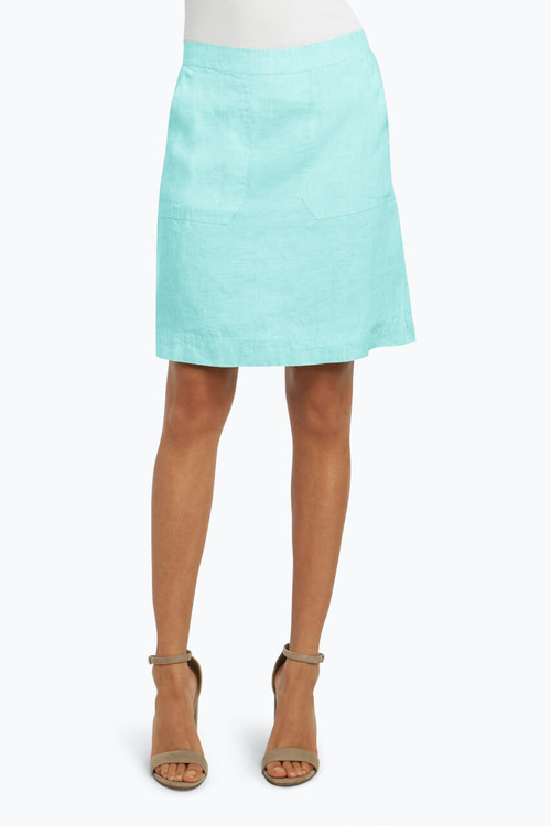 Candice Skirt in Chambray Linen