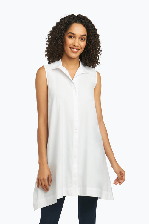 Latrice Tunic in Solid Stretch Sateen