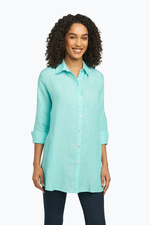 Cici Tunic in Chambray Linen