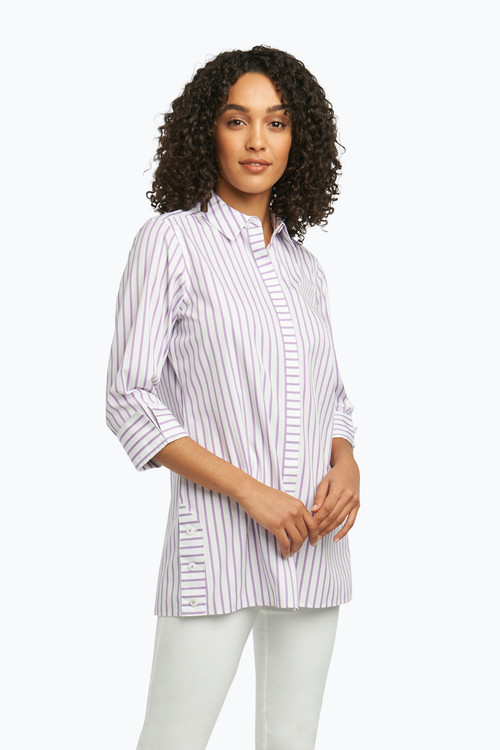 Wanda Non-Iron Tunic in Summer Stripe