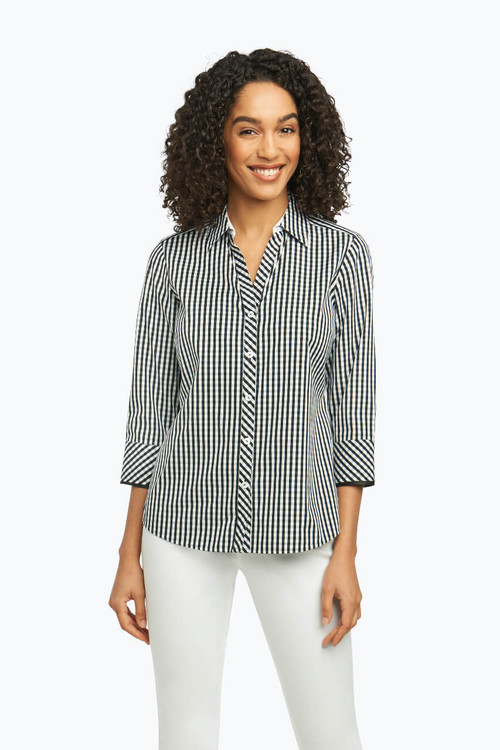 Mary Petite Non-Iron Shirt in Summer Gingham