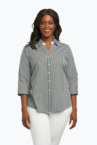 Mary Plus Non-Iron Shirt in Summer Gingham