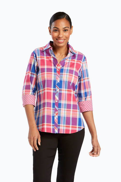 Mary Petite Shirt in Madras Plaid