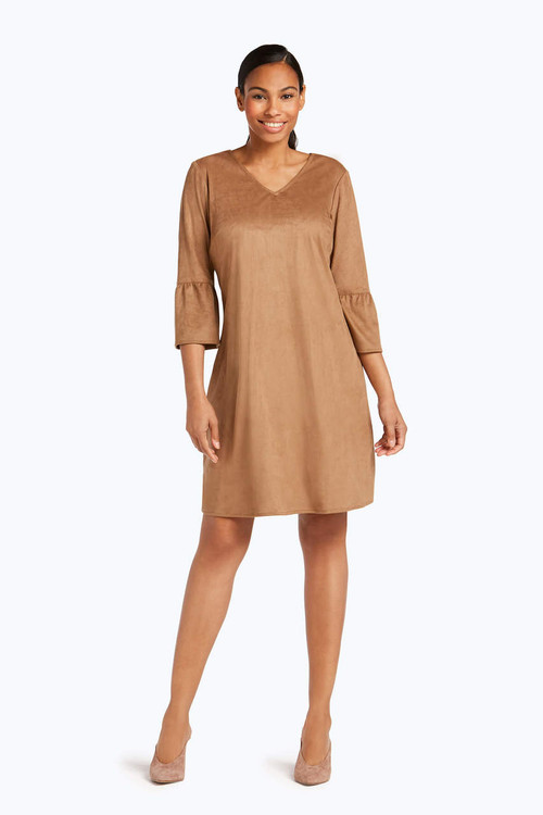 Fauna Faux Suede Dress