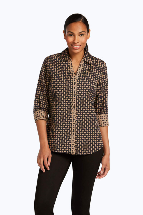 Mary Petite Double Face Jacquard Shirt