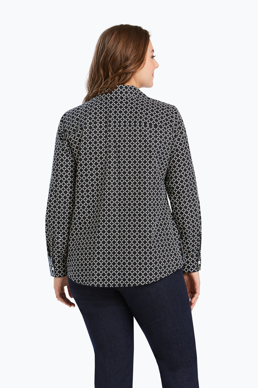 5697537a550dc Mary Plus Mary Non-Iron Dot Print Shirt