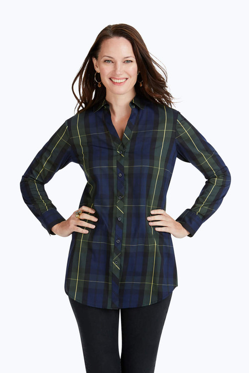 Faith Wrinkle-Free Lenox Tartan Tunic