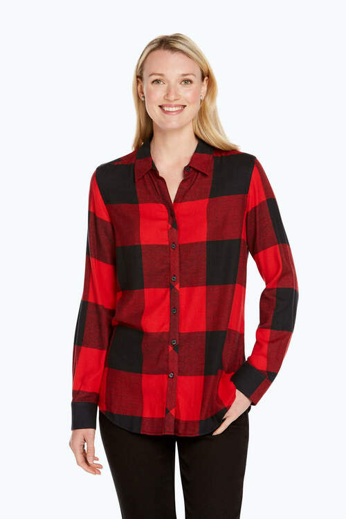 Zoey Brushed Buffalo Check Shirt