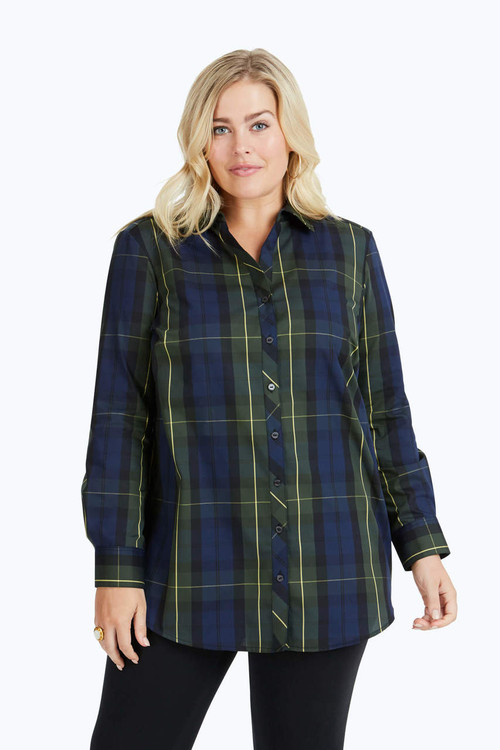 Faith Plus Wrinkle-Free Lenox Tartan Tunic