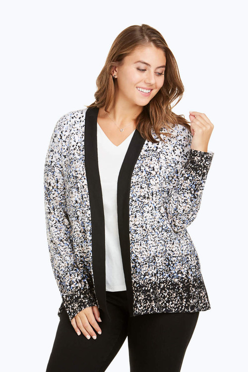 Florence Plus Ombre Flower Cardigan