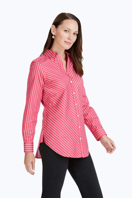 Exclusive Ivy Non-Iron Thin Stripe Tunic