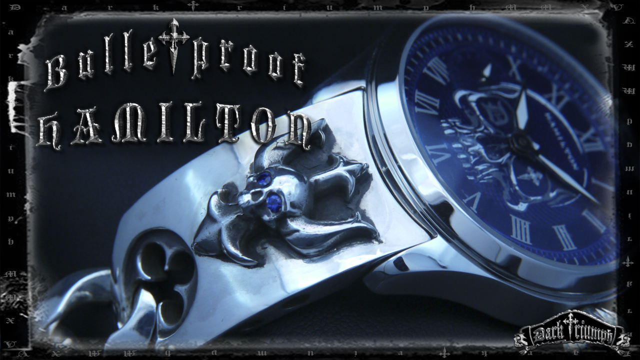 Hamilton custom sapphire watch skull