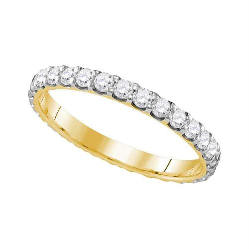 10k Yellow Gold Womens Round Diamond Bridal Wedding Anniversary Ring Band 1.00 Cttw