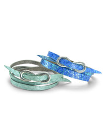 Fish Leather Wrap Bracelet
