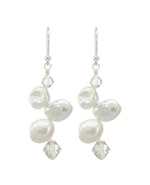 Huahine Earrings - White