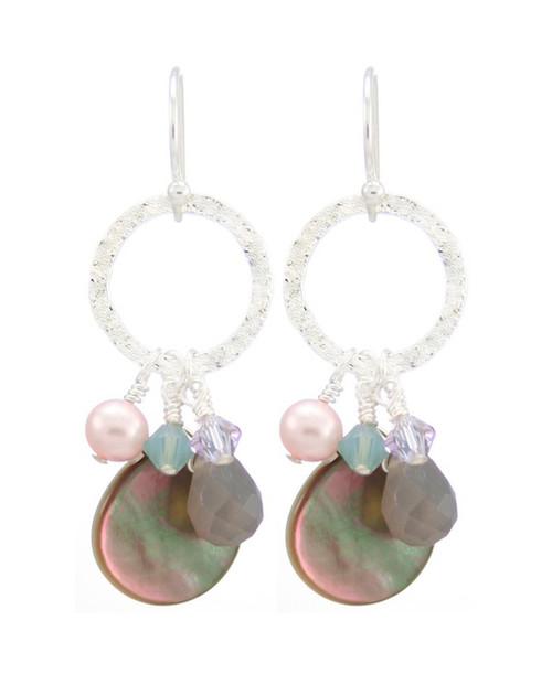 Coral Springs Earrings- Purple
