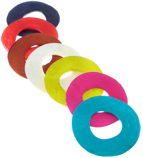Small Capiz Shell Ring Pendant