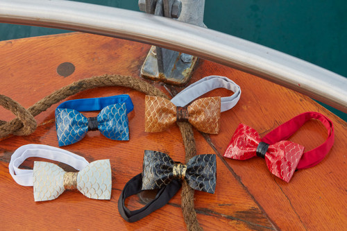 Tilapia Fish Leather Bow Tie