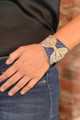 Metallic Leather Bow Cuff