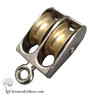 Metal Pulley, Double Parallel, 25mm Wheels