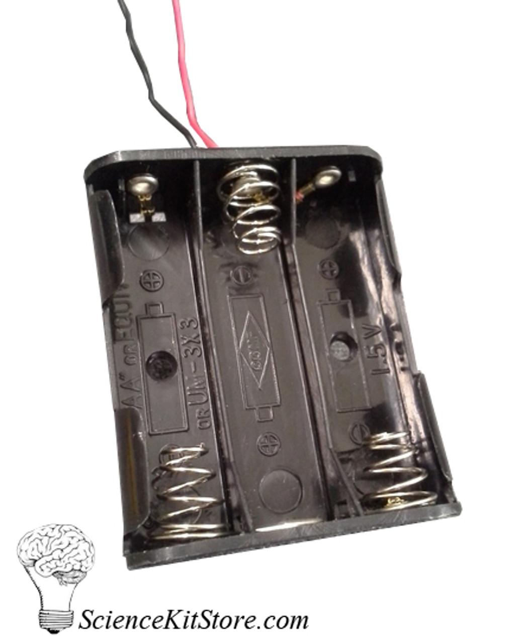 Battery Holder, 3AA, Plastic