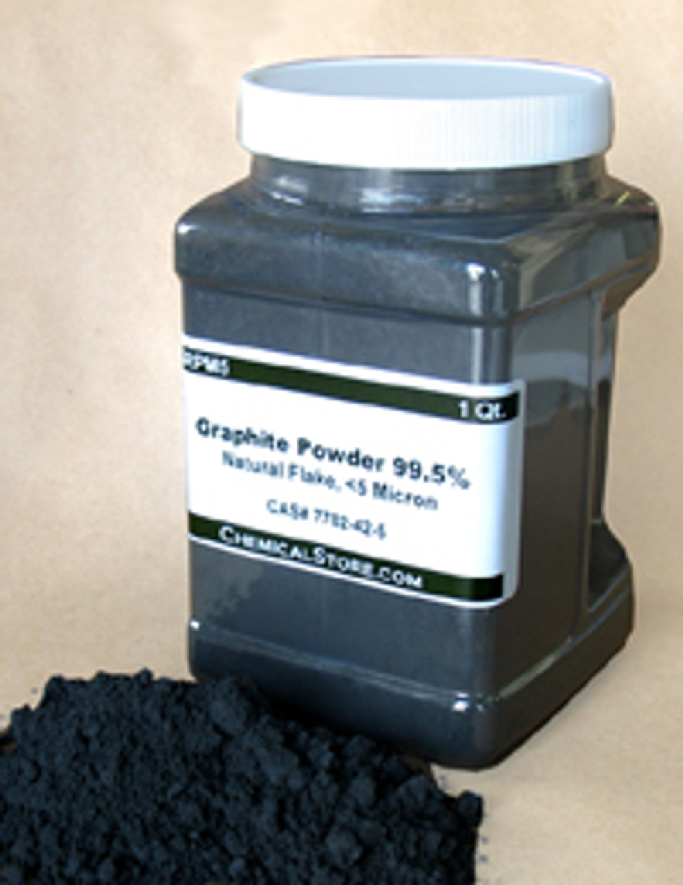 Graphite Powder, Natural,  Flake,  (Quart Container)