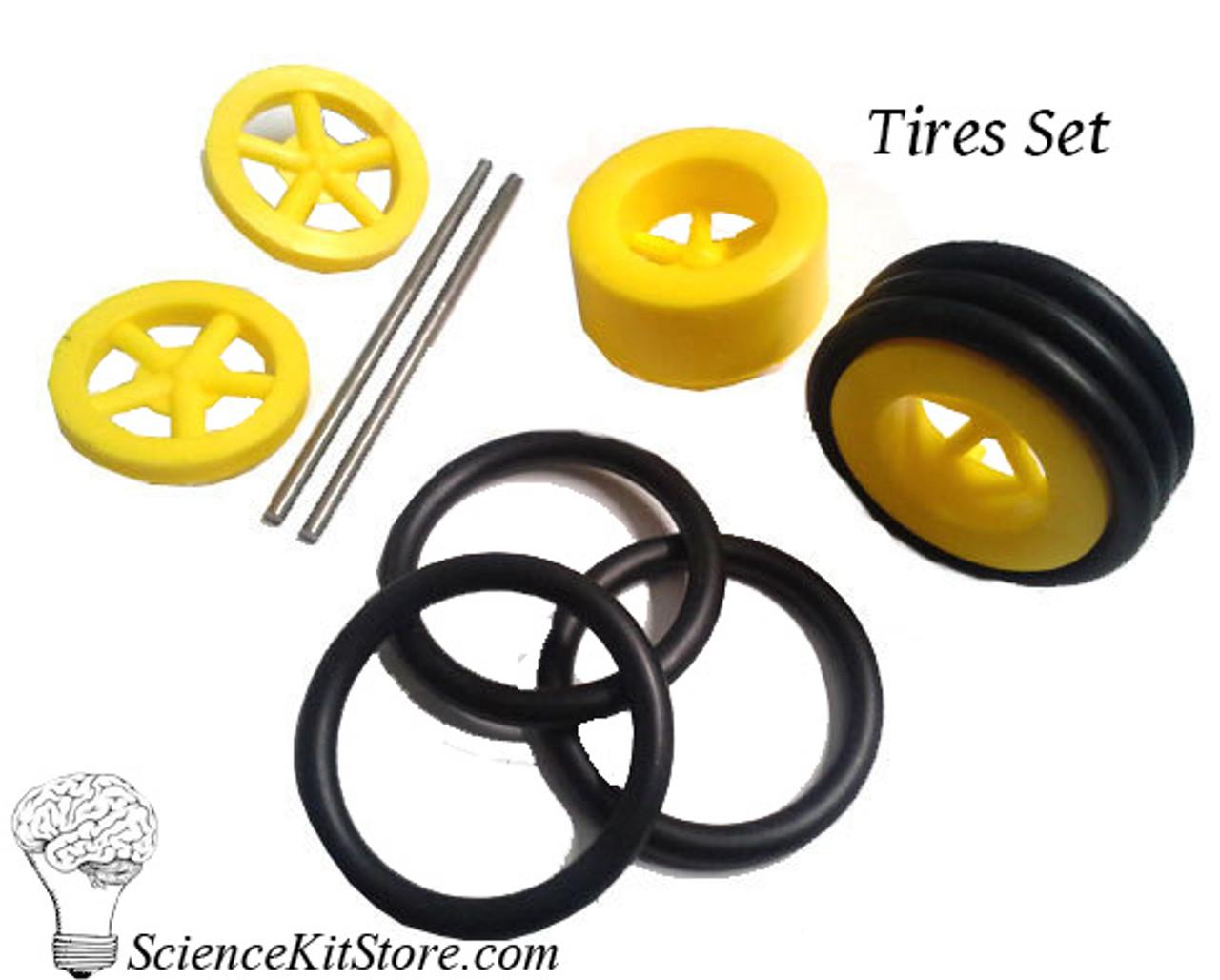 Plastic Wheels, Tires Set
