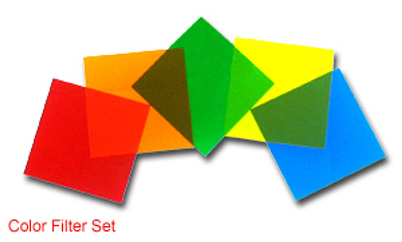 "Color Filter, Set of 5 Colors, 4"" x 4"""