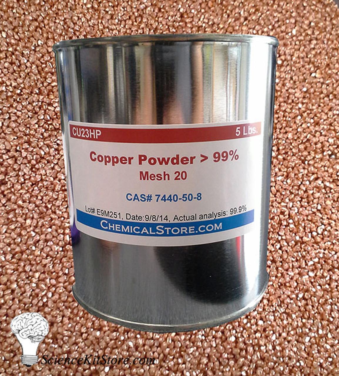 Copper Granules, 20 Mesh (5 lbs)