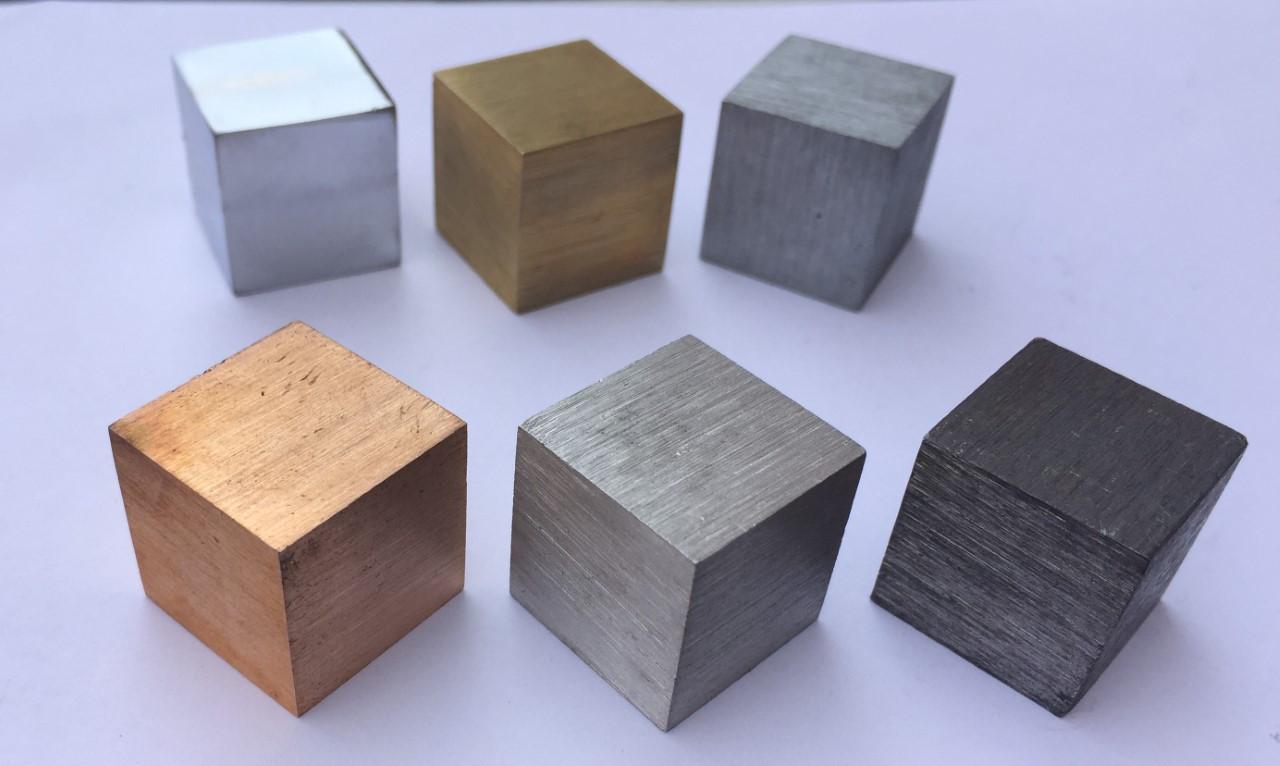 Cubes, Various Metals