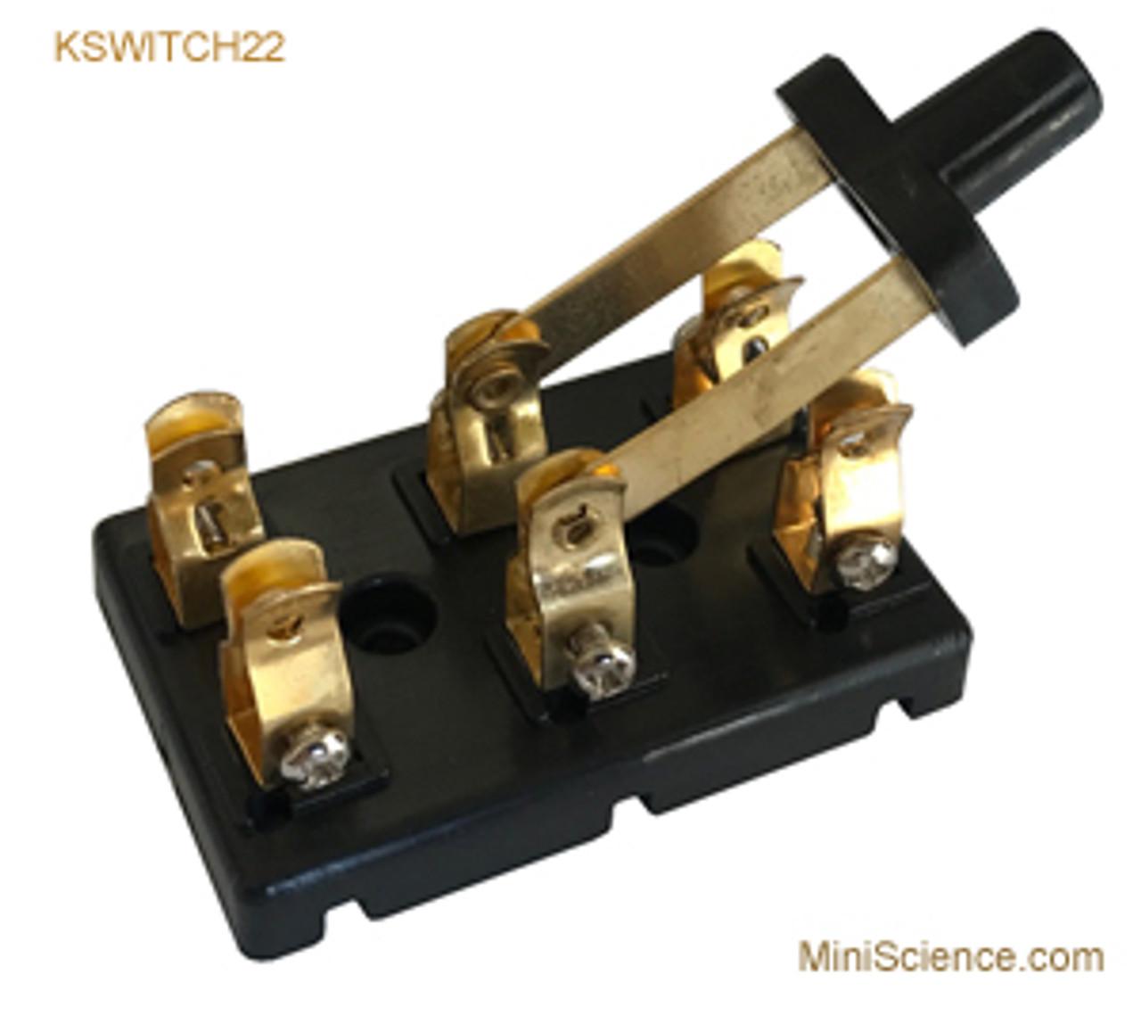 Knife Switch DPDT with Brass Screws