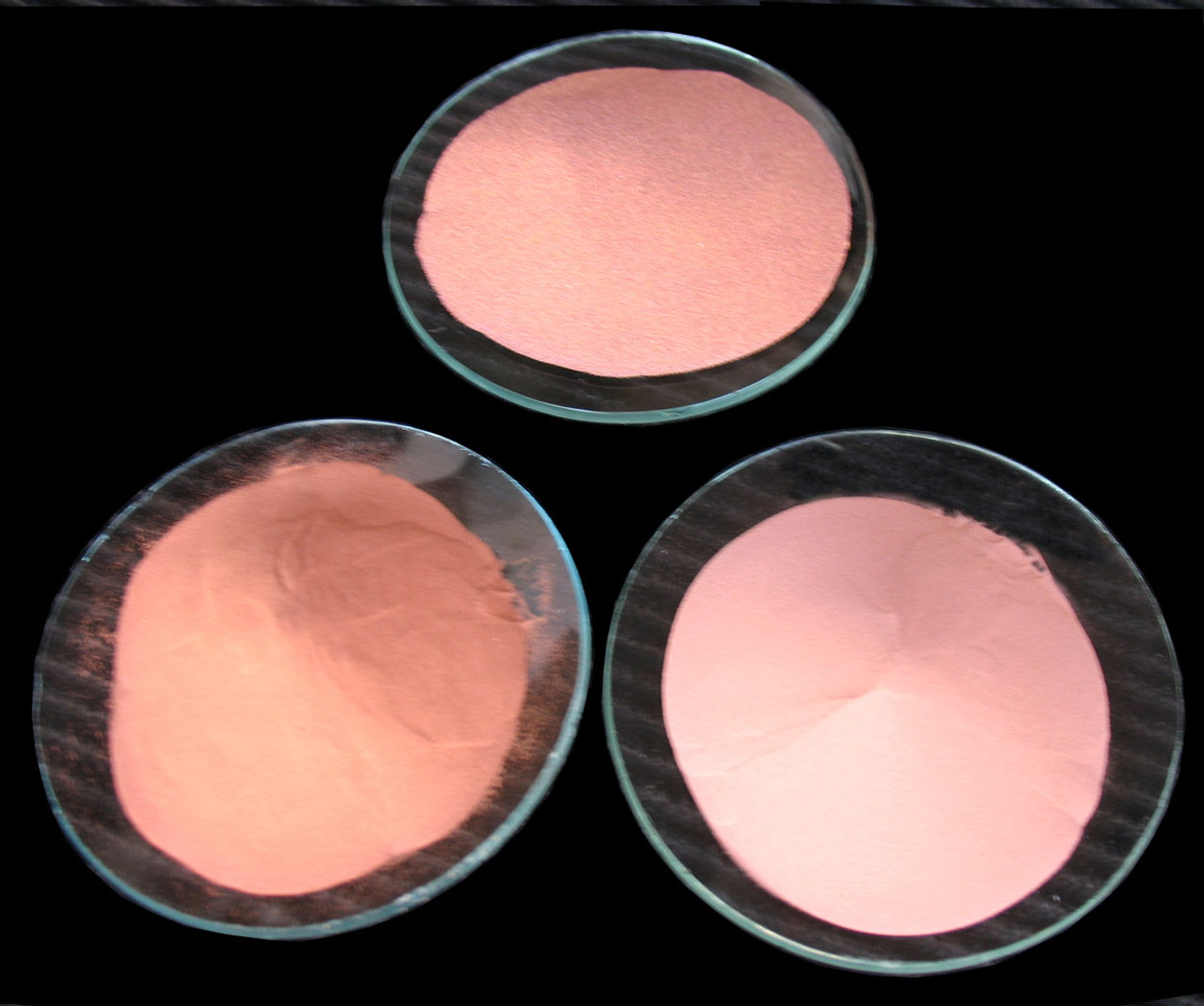 Copper Powder 99.5% - 99.9%. Very high purity, air atomized, hydrogen reduced ultra fine copper powder. Spherical particle. High conductivity. High Density.