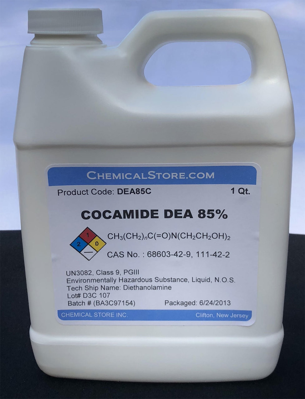 A liquid coconut derived super diethanolamide (85%) comonly used in the preparation of high foaming cosmetic products.