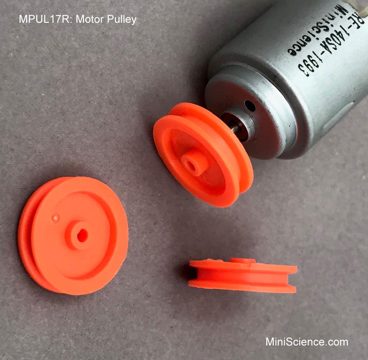 Motor Pulley 17-mm Red/ Orange, Pack of 10