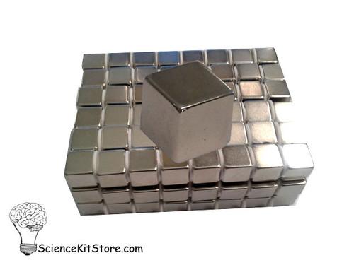 """Neodymium Cube Magnet, .5"""""""