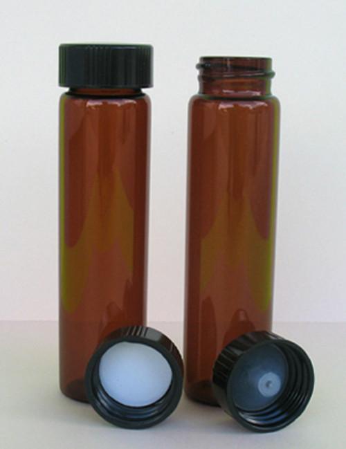 Glass Vial, Amber, 8 Dram (1 oz.)