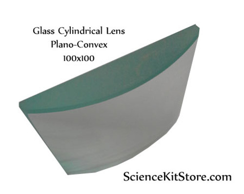 Glass Cylindrical Lens, Plano-Convex 50x50mm FL 100mm
