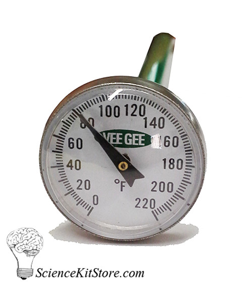 Dial Thermometer (Fahrenheit 0° to 220°)