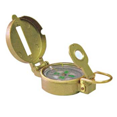 Lensatic Compass, Metal Case