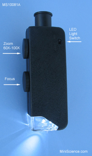 Illuminated Zoom Microscope