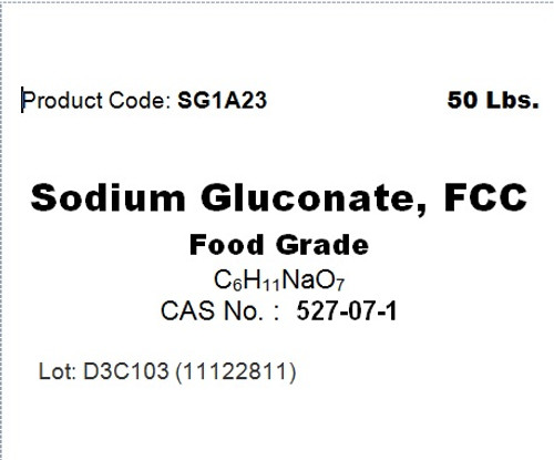 Sodium gluconate is sodium salt of gluconic acid that is produced by the fermentation of glucose.