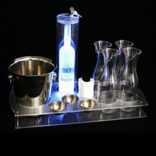 Premium Bottle Service Trays With Bottle Lock
