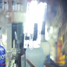 LED Bottle Sparklers in a club