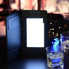 LED backlit check presenter