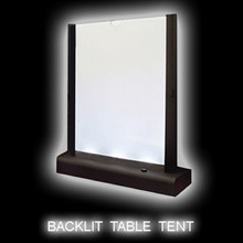 LED Backlit Table Tent