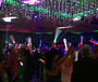 Wedding party with our led foam glow sticks.